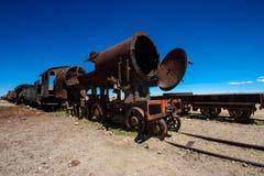 Train cemetery, Uyuni, Bolivia Royalty Free Stock Image