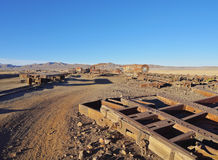 Train Cemetery in Uyuni Royalty Free Stock Photography