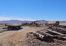 Train Cemetery in Uyuni Royalty Free Stock Images