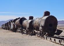 Train Cemetery in Uyuni Stock Images