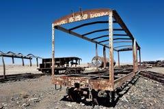 Train Cemetery in Uyuni, Bolivia royalty free stock photos