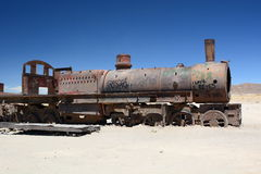 The train cemetery. Uyuni. Potosí Department. Bolivia Royalty Free Stock Images