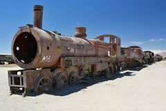 The train cemetery. Uyuni. Potosí Department. Bolivia Royalty Free Stock Photos