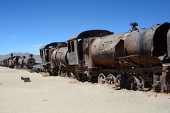 The train cemetery. Uyuni. Potosí Department. Bolivia Royalty Free Stock Photography