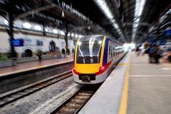 Train in central station Royalty Free Stock Photography