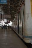 Train at Chhatrapati Shivaji Terminus, Mumbai. Victoria Terminus Station Royalty Free Stock Image