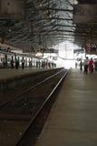 Train at Chhatrapati Shivaji Terminus, Mumbai. Victoria Terminus Station Stock Photos