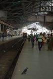 Train at Chhatrapati Shivaji Terminus, Mumbai. Victoria Terminus Station Stock Photo