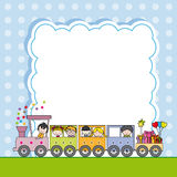 Train with children. framework Stock Photography
