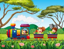 Train and children Royalty Free Stock Images