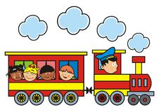 Train and children Stock Image