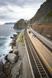 The train of cinque terre. Liguria , italy Royalty Free Stock Image