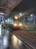Train in cirebon. Train departure from cirebon station Royalty Free Stock Photo