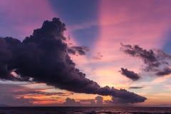 Train cloud sunset Stock Photos