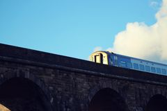Train From a Cloud stock image