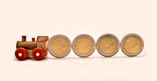 Train coins Royalty Free Stock Photography