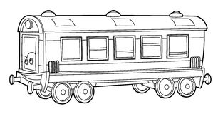 Train - coloring page for the children Royalty Free Stock Photo