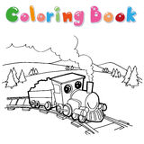 Train coloring page  Royalty Free Stock Images