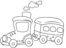 Train coloring page Stock Photo