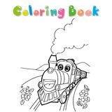 Train coloring page vector Royalty Free Stock Image