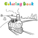 Train coloring page vector Stock Photos