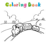 Train coloring page vector Stock Photography