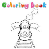 Train coloring page vector Royalty Free Stock Photos