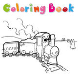 Train coloring page vector Stock Image