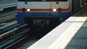 Train comes to the station. The train comes to the station. Full HD slow motion stock footage stock video footage