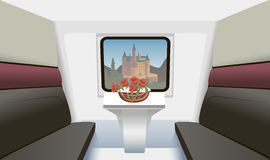 Train compartment Stock Image