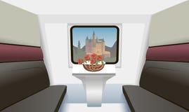 Train compartment stock image