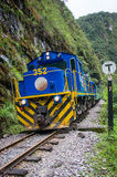 Train connecting Cusco and Machu Picchu in Peru Stock Image