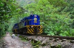Train connecting Cusco and Machu Picchu in Peru Royalty Free Stock Photo