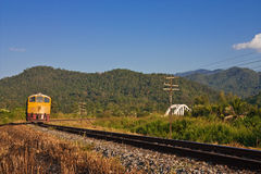 Train in country of Thailand Royalty Free Stock Photography