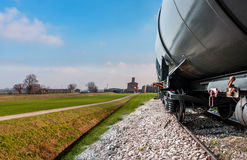 Train in the countryside. Train detail in the countryside Royalty Free Stock Photography
