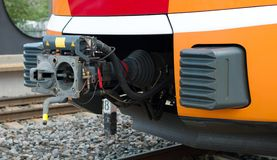 Train coupler. Stock Photos