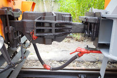 Train coupling Stock Photography
