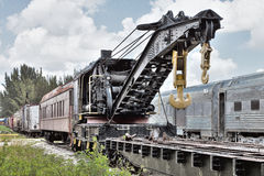 Train Crane Royalty Free Stock Photos