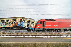 Train crash Royalty Free Stock Photo