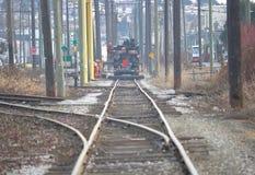 Train Crew Conducting Track Maintenance Stock Photo