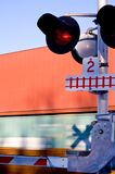 Train crossing 1 Royalty Free Stock Images
