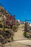Train crossing on the Bernina Pass in the Swiss Alps - 1 Royalty Free Stock Images
