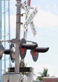 Train crossing gate Stock Photography
