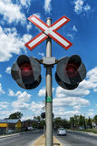 Train crossing Royalty Free Stock Image