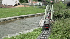 Train crossing the river stock video footage
