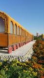 Train décoré des fruits Images libres de droits