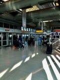 Train d'air d'aéroport de Newark images libres de droits