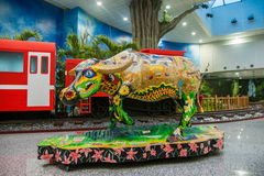 Train d'Alishan Alishan de Taïwan avec des bétail, bétail Photos libres de droits