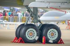 Train d'atterrissage d'avions Photos libres de droits