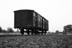 Train d'Auschwitz. Image stock